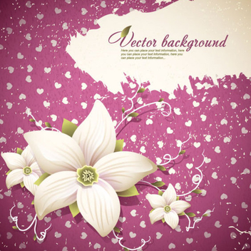 Beautiful Flowers Shading Background - Free vector #202739