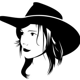 Cowgirl Vector - Free vector #202909