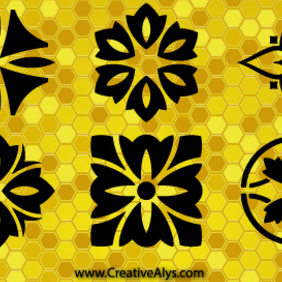 Creative Patterns And Logo Design Graphics - Free vector #202919