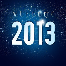 Welcome 2013 New Year - бесплатный vector #202939