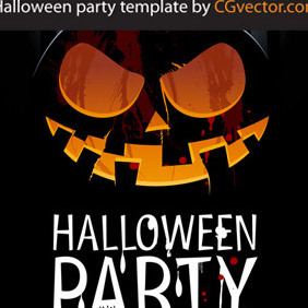 Halloween Party Template - vector gratuit #203029