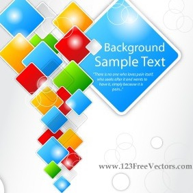 Abstract Square Vector Background - vector gratuit #203099