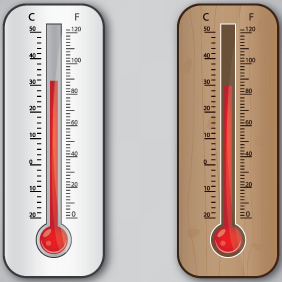 Thermometer Vector Design - Kostenloses vector #203119