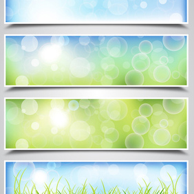 Spring Bokeh Backgrounds - Free vector #203139