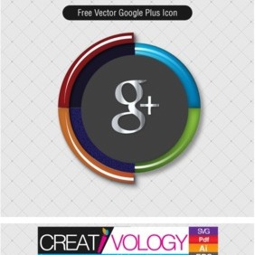 Free Vector Google Plus Icon - vector #203229 gratis