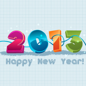 New Year 2013 Illustration 2 - Kostenloses vector #203339