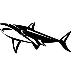 Shark Illustration - vector #203419 gratis