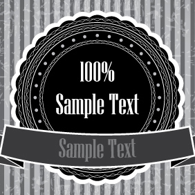 Black And White Sticker Banner - бесплатный vector #203499