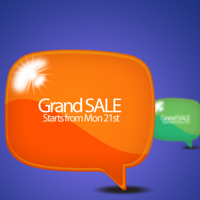Sale Label Bubble - Free vector #203539