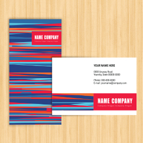 Visiting Card Template - vector #203569 gratis