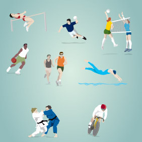 Olympic Sports Vector 02 - Free vector #203749