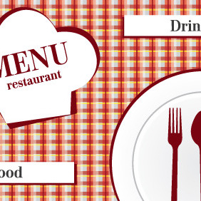 Restaurant Menu Design Vector - Free vector #203779