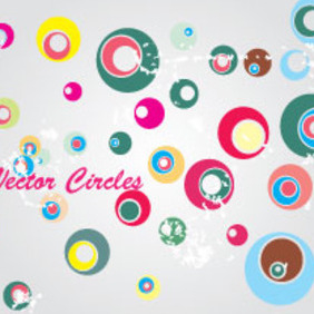 Colored Moons In Gris Background - vector #203879 gratis