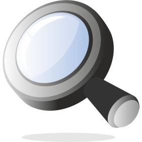 3d Magnifying Glass - Free vector #204029