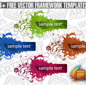 Useful Free Vector Flourish Framework Template - vector #204169 gratis