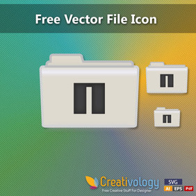 Free Vector File Icon - vector gratuit #204209