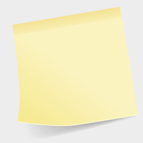 Free Vector Of The Day #71: Sticky Note - vector #204229 gratis