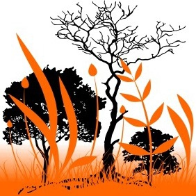 Orange Nature Background - vector #204269 gratis