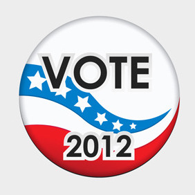 Free Vector Of The Day #118: Vote Badge - Free vector #204499