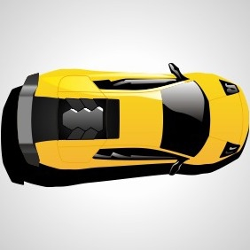 Lamborghini Car Top View - vector gratuit #204599