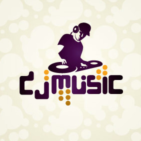 DJ Music Logo - Free vector #204609
