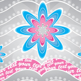 Blue And Purple Flowers Card - vector #204669 gratis