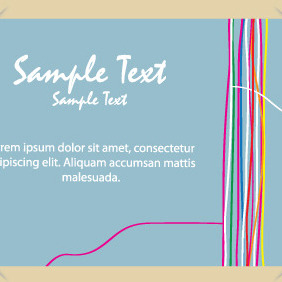 Postcard Design With Colorful Lines - vector gratuit #204679
