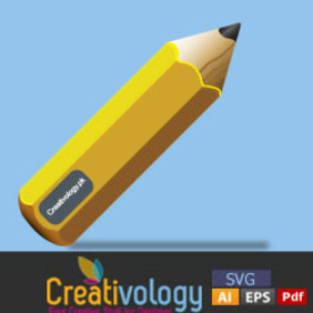 Free Cool Vector Pencil - Free vector #204709