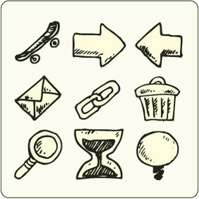 Doodle Icons 7 - Free vector #204759
