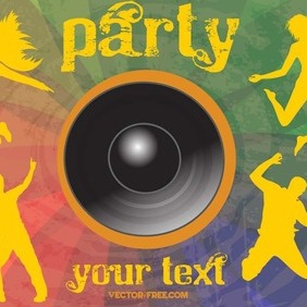 Free Party Flier Vector - Free vector #204799