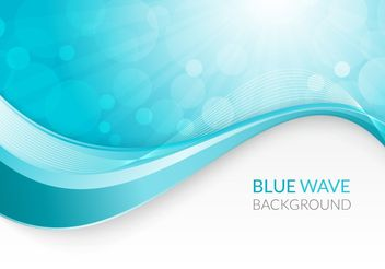 Blue Wave Background - vector #205139 gratis