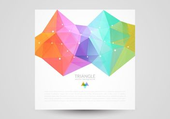 Colorful Abstract Triangle Background - vector #205149 gratis