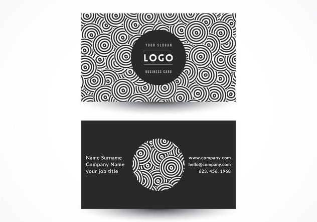 Geometric Circles Business Card - vector gratuit #205169