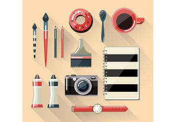 Workspace Vectors - Free vector #205179