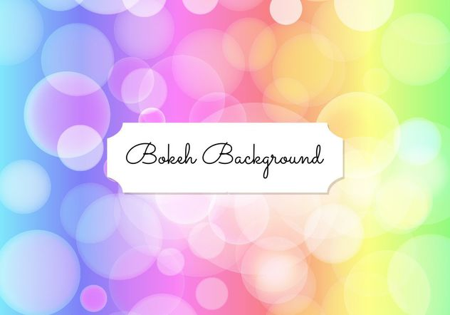 Elegant Bokeh Background - бесплатный vector #205199