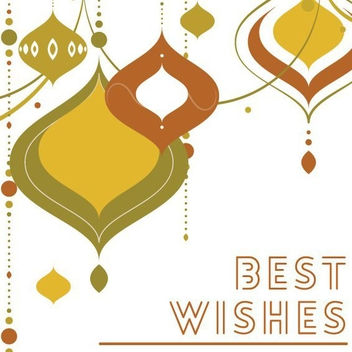 Best Wishes - vector #205239 gratis