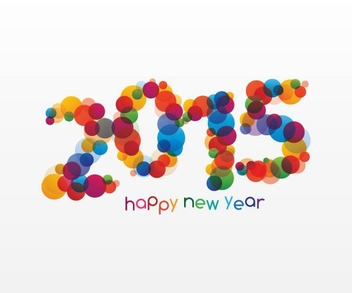 Happy New Year 2015 - vector gratuit #205289