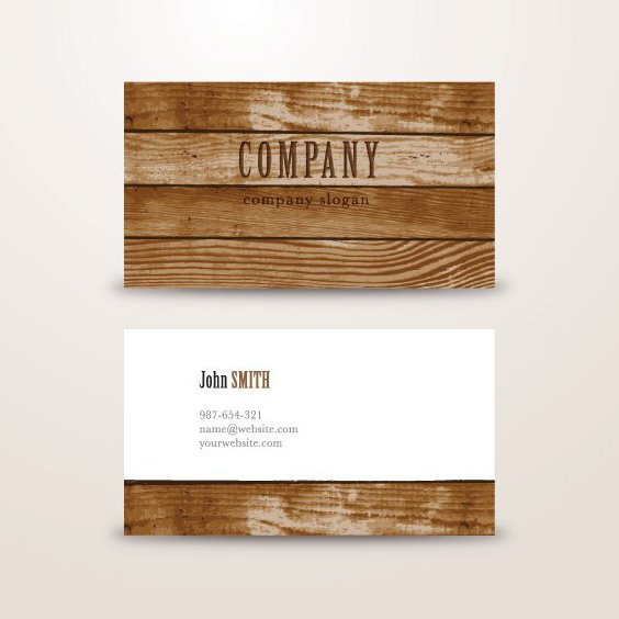 Wooden Background Business Card - vector #205349 gratis