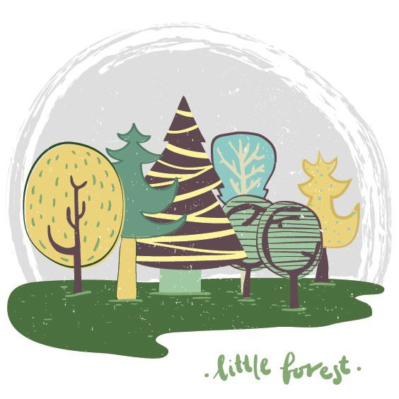 Little Forest - Free vector #205369