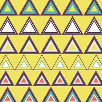 Seamless Triangle Pattern - vector gratuit #205389