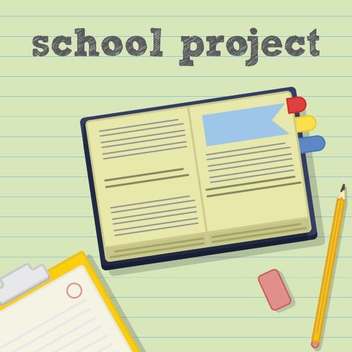 School Project - vector #205409 gratis