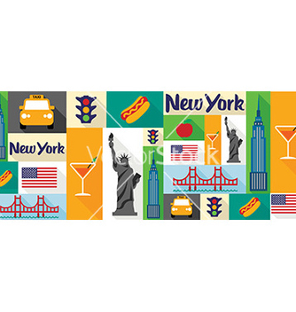 Free travel and tourism icons new york vector - Free vector #205489