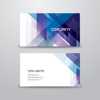 Blue Abstract Business Card - vector gratuit #205529