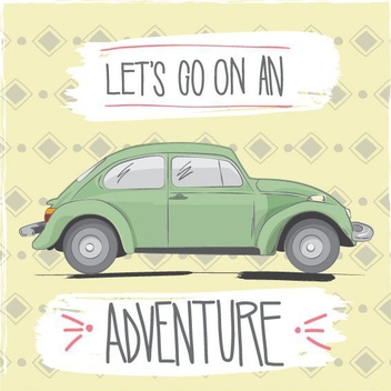 Let's Go On An Adventure - vector #205699 gratis