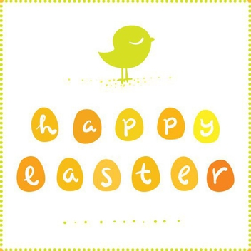 Cute Easter Greeting Card - vector gratuit #205729