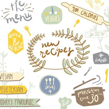 Recipe Stickers - vector gratuit #205899