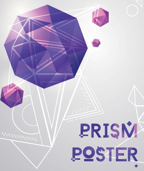 Prism Poster - Free vector #205919
