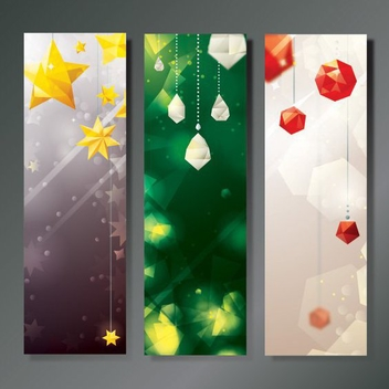 Christmas Decoration Banners - vector gratuit #205969
