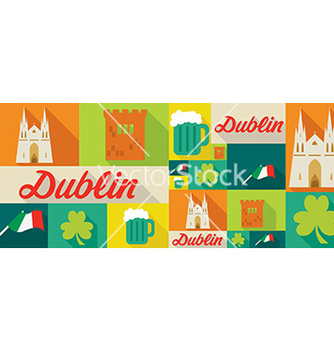 Free travel and tourism icons dublin vector - бесплатный vector #206029