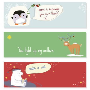 Cute Christmas Banners - vector gratuit #206049